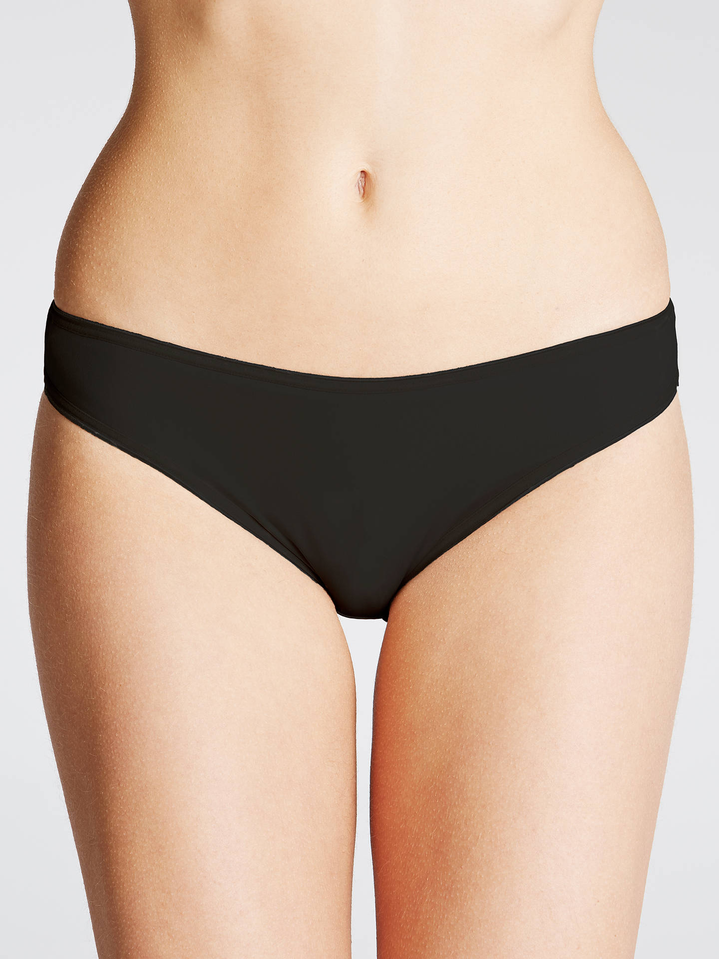 5248a2764068 Buy John Lewis & Partners 3 Pack Microfibre Bikini-Cut Briefs, Black, 8 ...