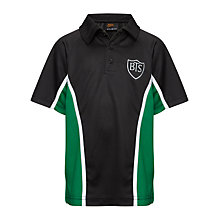 Buy Buckholme Towers School Sports Polo Shirt, Black/Green Online at johnlewis.com