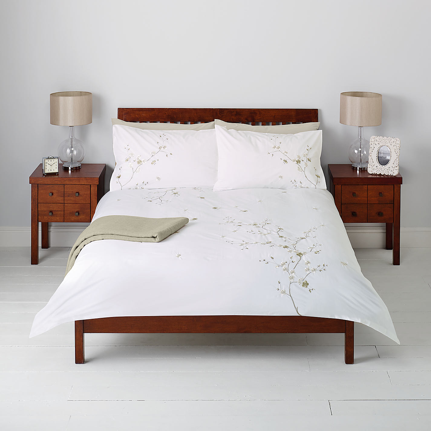 John Lewis Chinese Blossom Duvet Cover And Pillowcase Set Online At Johnlewis