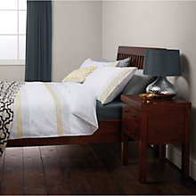 Buy John Lewis Soraya Embroidered Stripe Cotton Duvet Cover and Pillowcase Set, Saffron Online at johnlewis.com