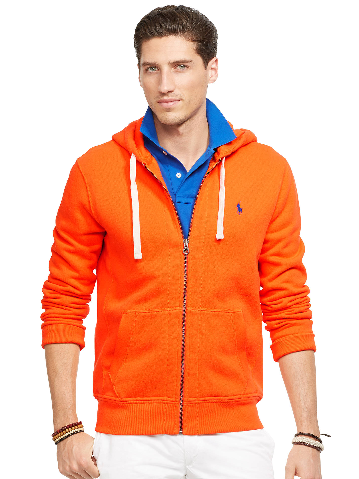 ddd7a1741 ... canada buypolo ralph lauren full zip hoodie bright orange s online at  johnlewis b2666 c7998