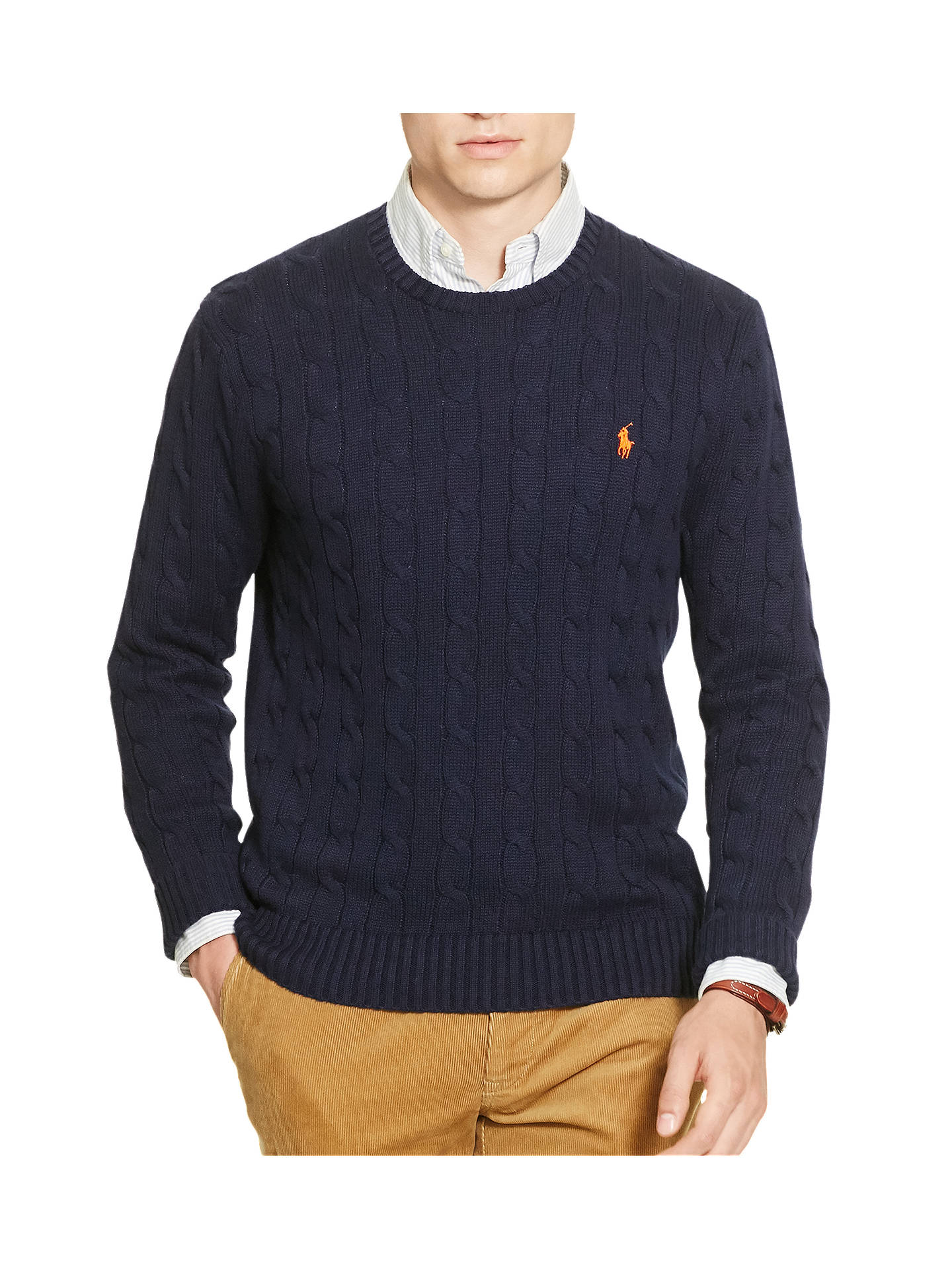 acac329d1 Buy Polo Ralph Lauren Cable Knit Crew Neck Jumper