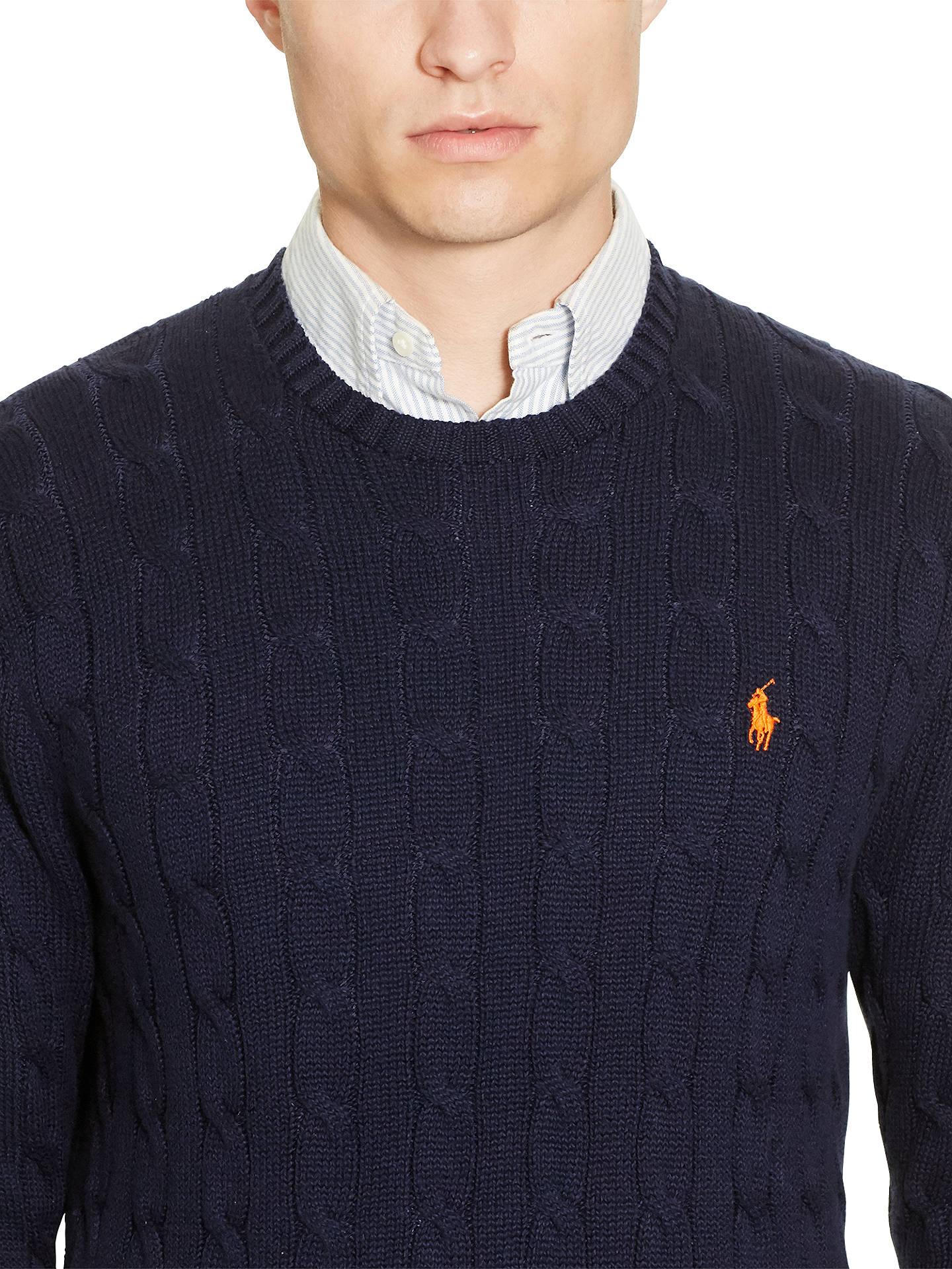 e84baf5e2 ... Buy Polo Ralph Lauren Cable Knit Crew Neck Jumper