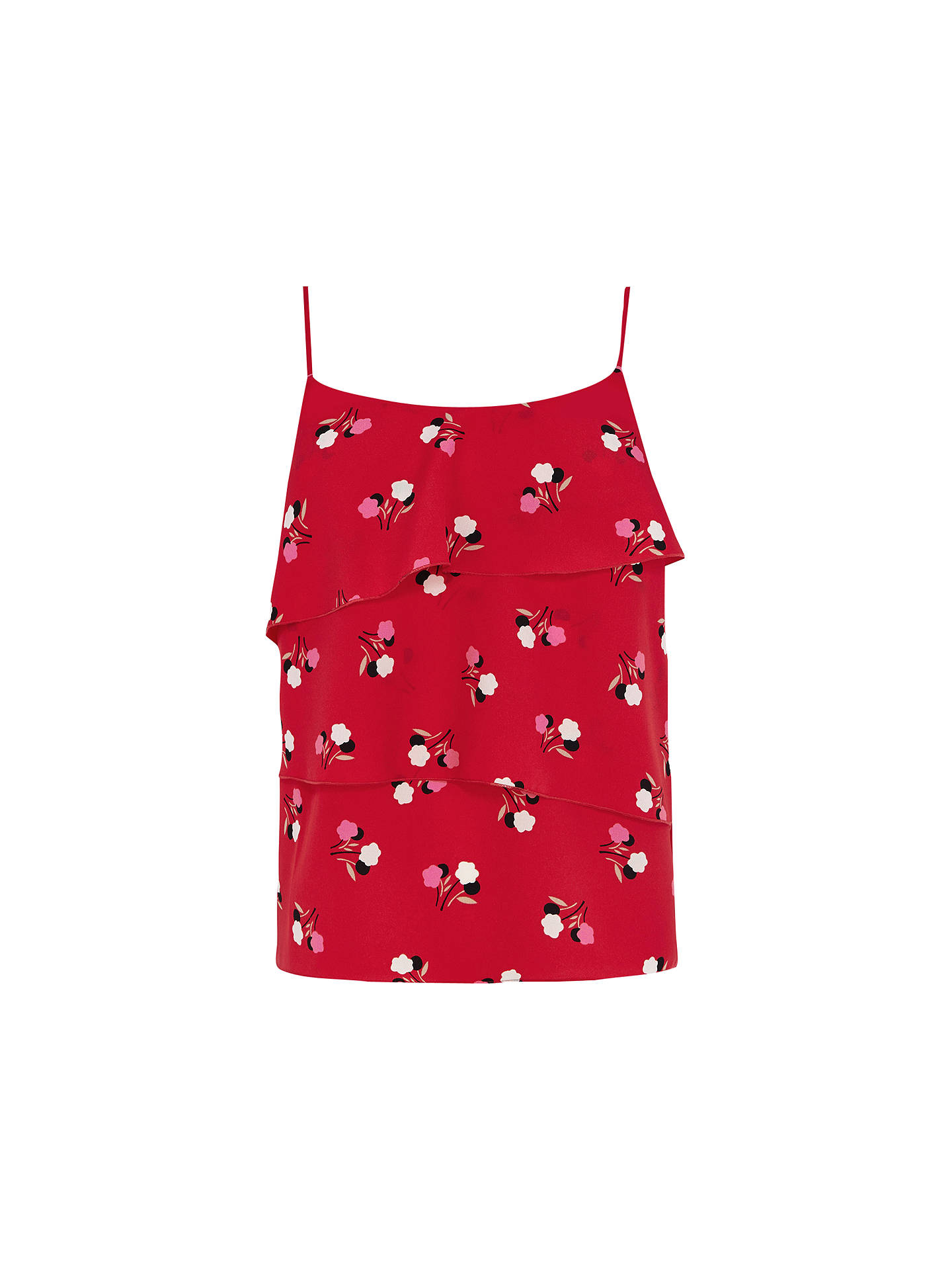 66cac03f469d Buy Oasis Pop Floral Cami Top, Red/Multi, 8 Online at johnlewis.