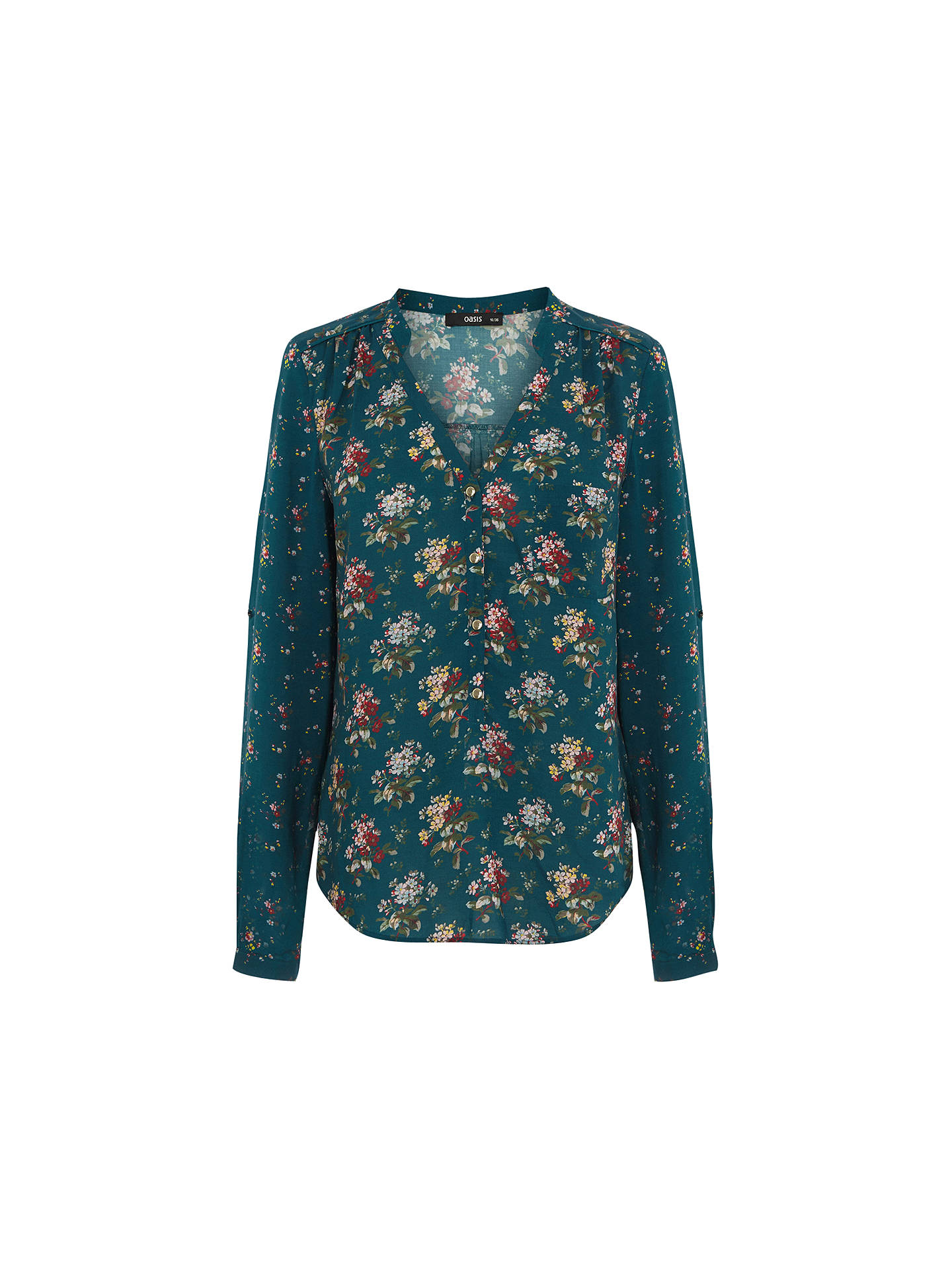 22e40be11d6208 BuyOasis Patched Ditsy Print Shirt