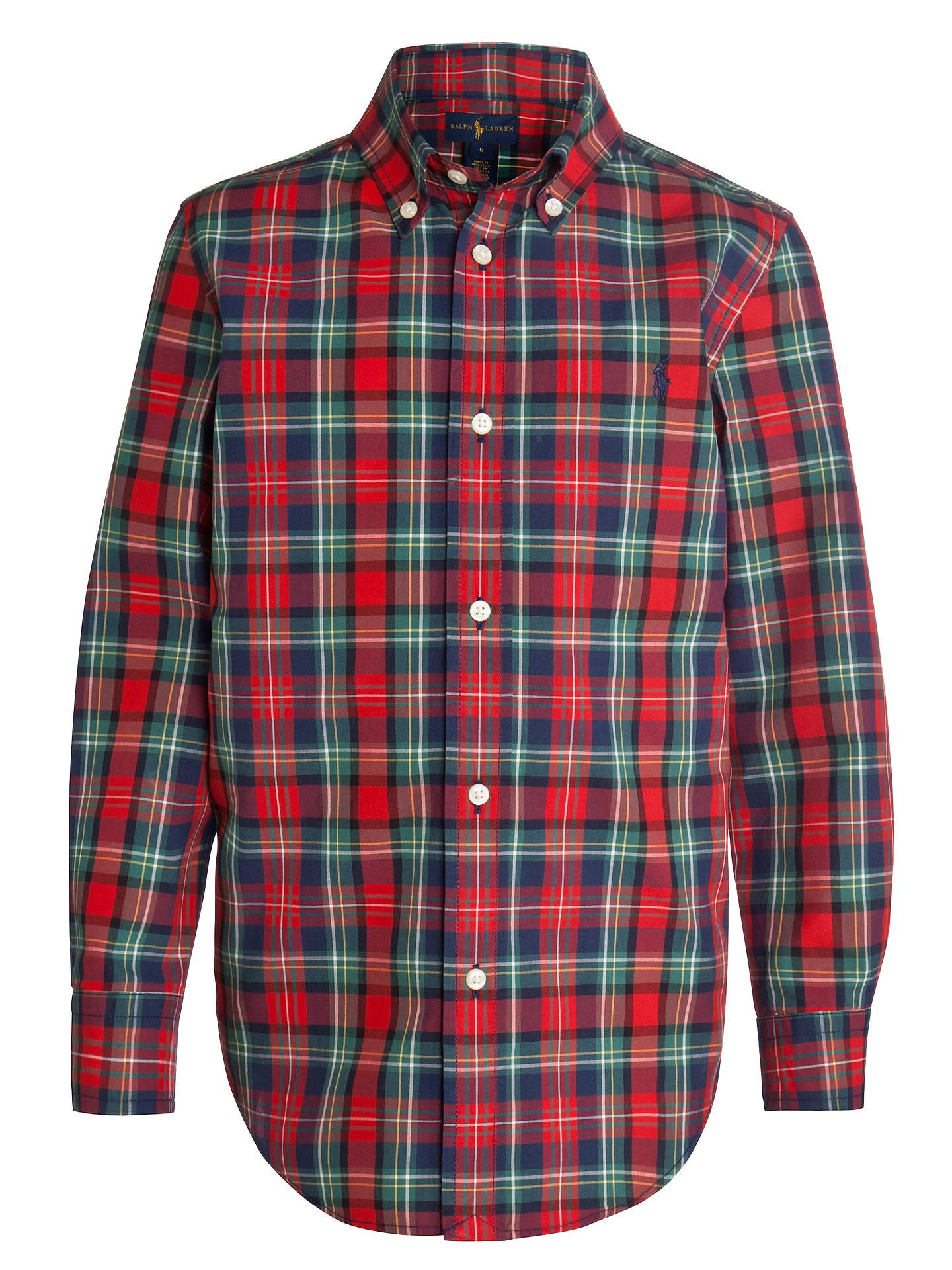 Ralph Lauren John Boys' Check Polo Blake At Lewis Shirt Long Sleeve 35jL4AR