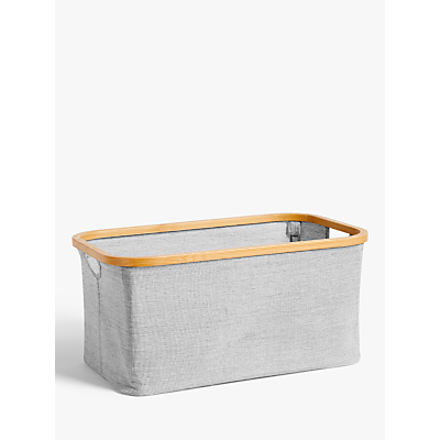 John Lewis Bamboo Rim Storage Basket
