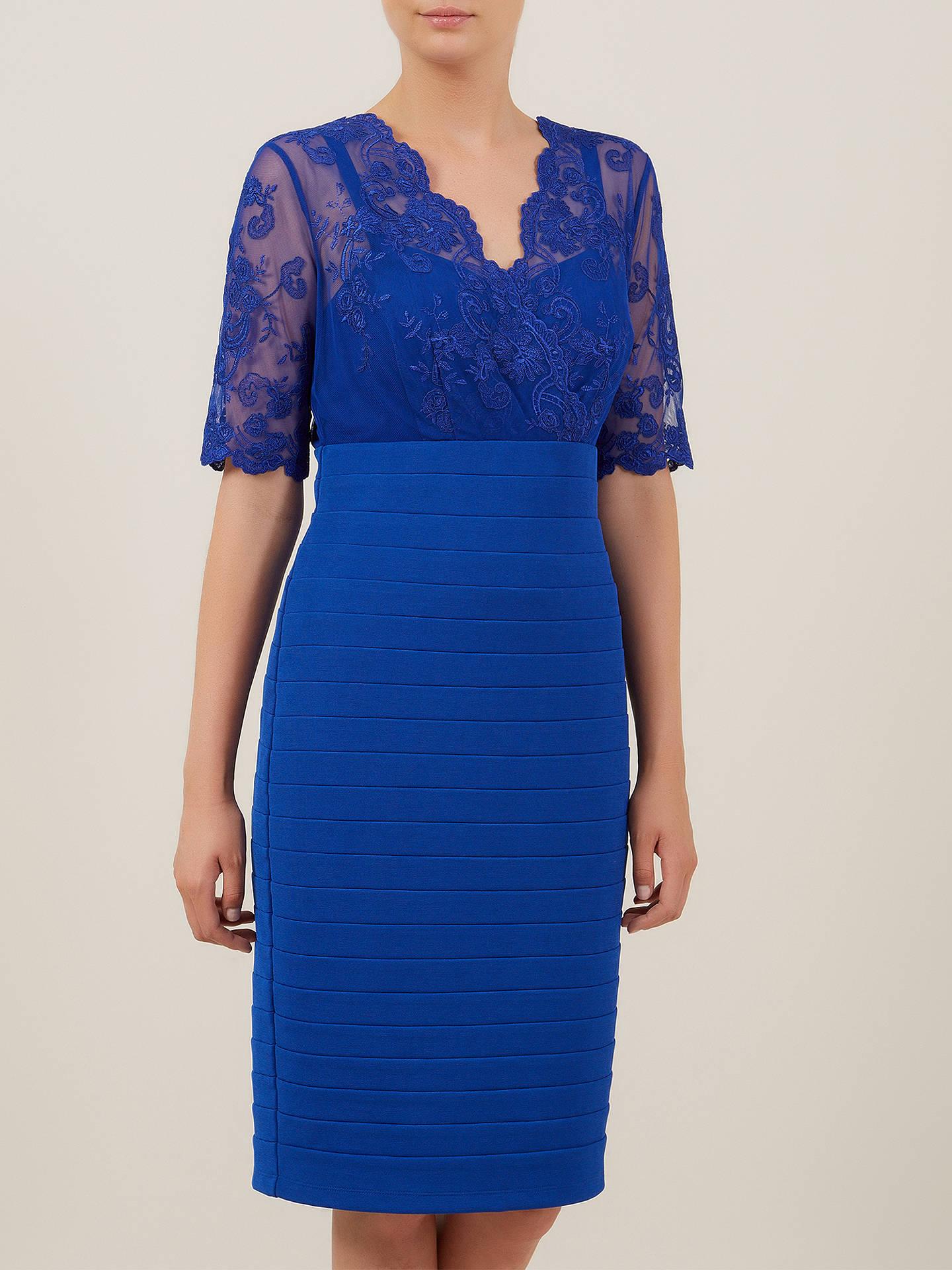 e1d42aca13b ... Buy Kaliko Lace and Jersey Dress, Colbalt, 10 Online at johnlewis.com  ...