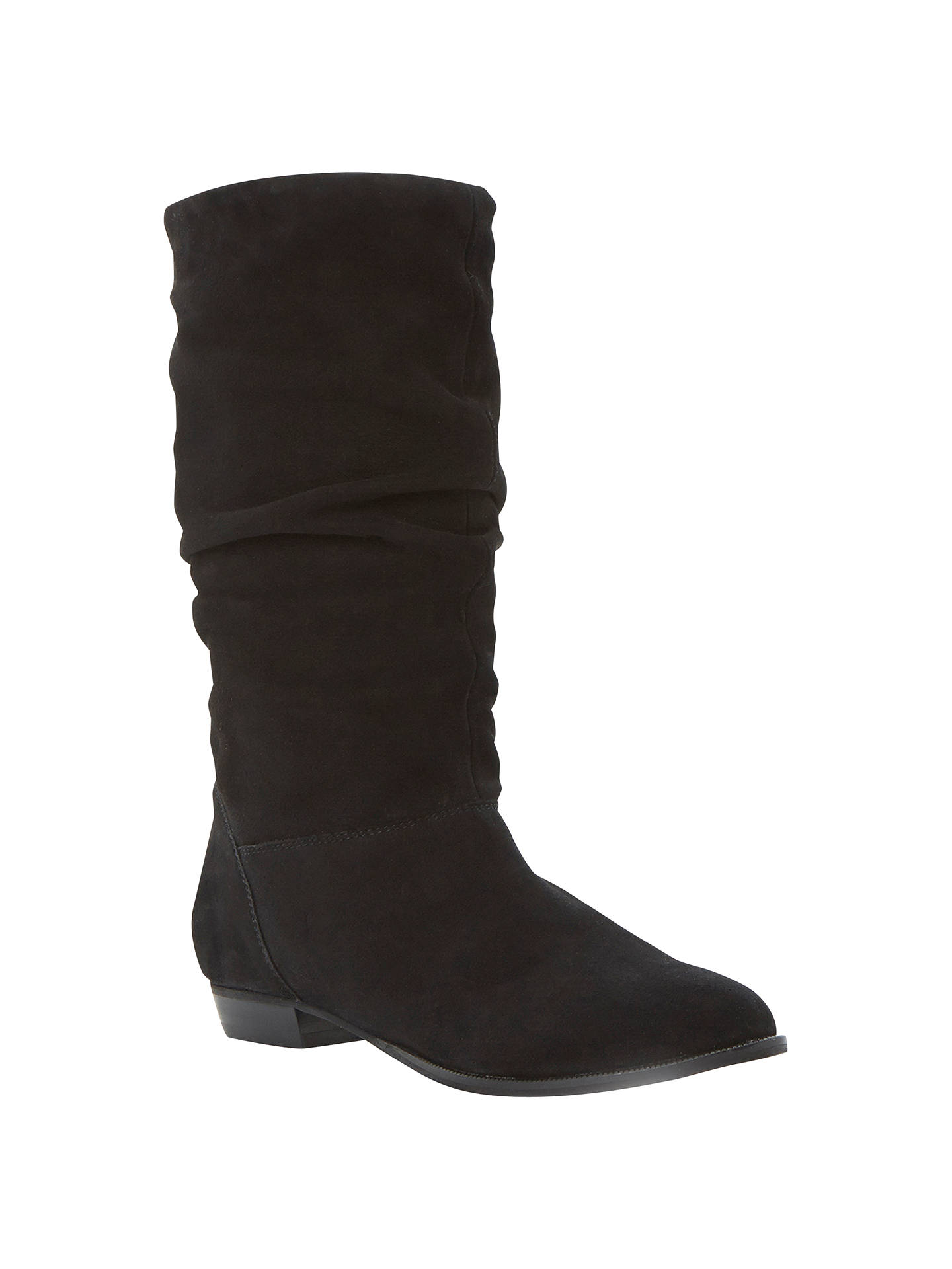 f09dc8099 Buy Dune Relissa Suede Slouch Calf Boots, Black, 3 Online at johnlewis.com  ...