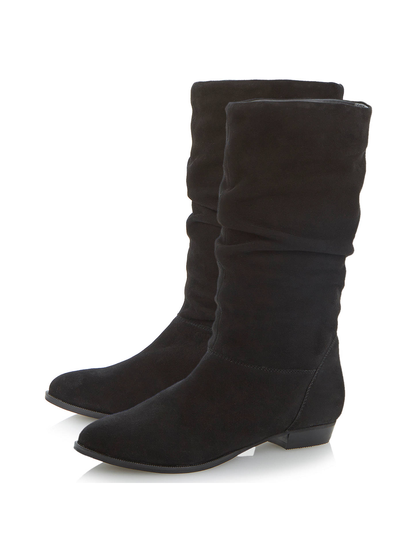 5e8675ecf ... Buy Dune Relissa Suede Slouch Calf Boots, Black, 3 Online at  johnlewis.com ...