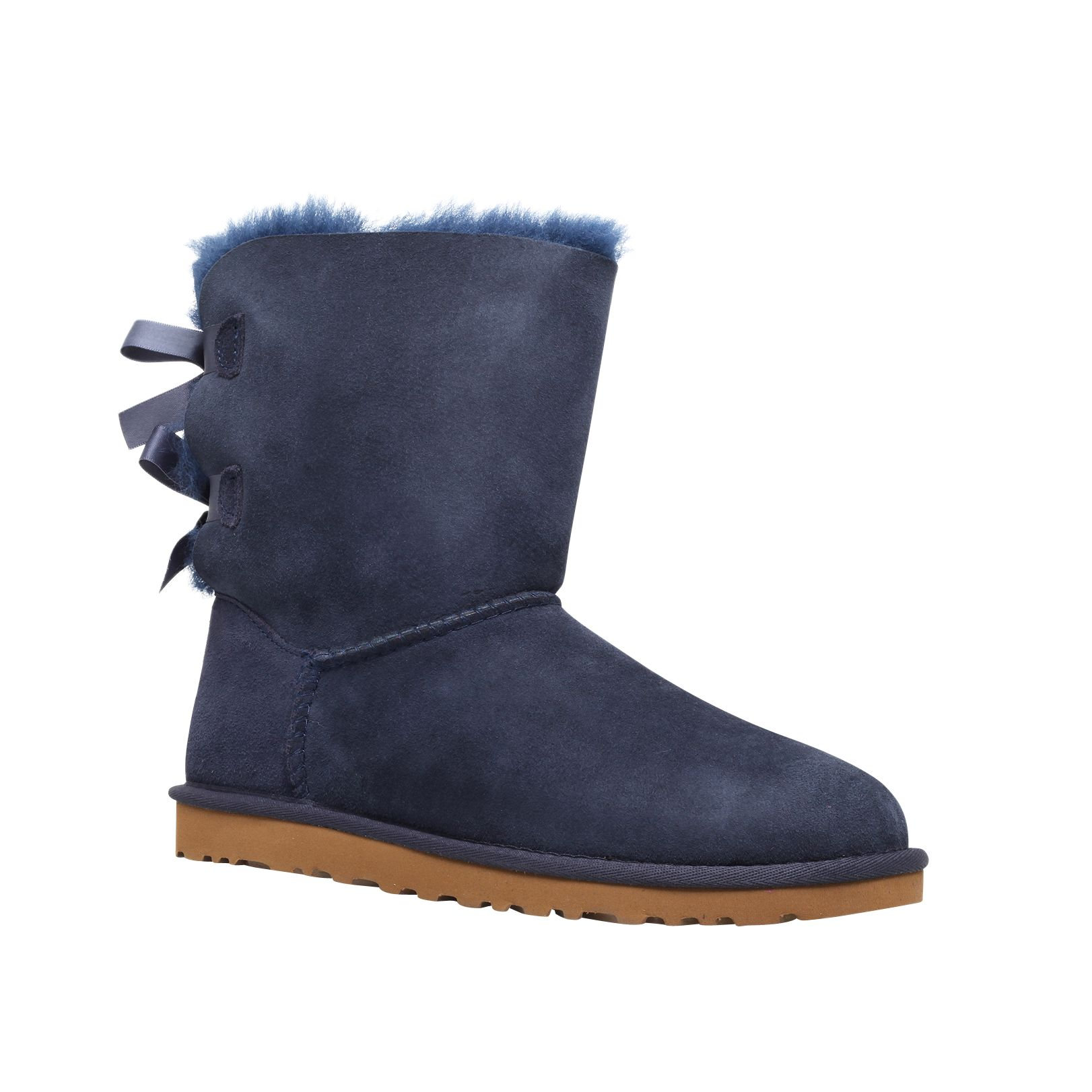 ugg bailey bow calf boots navy suede at john lewis partners rh johnlewis com