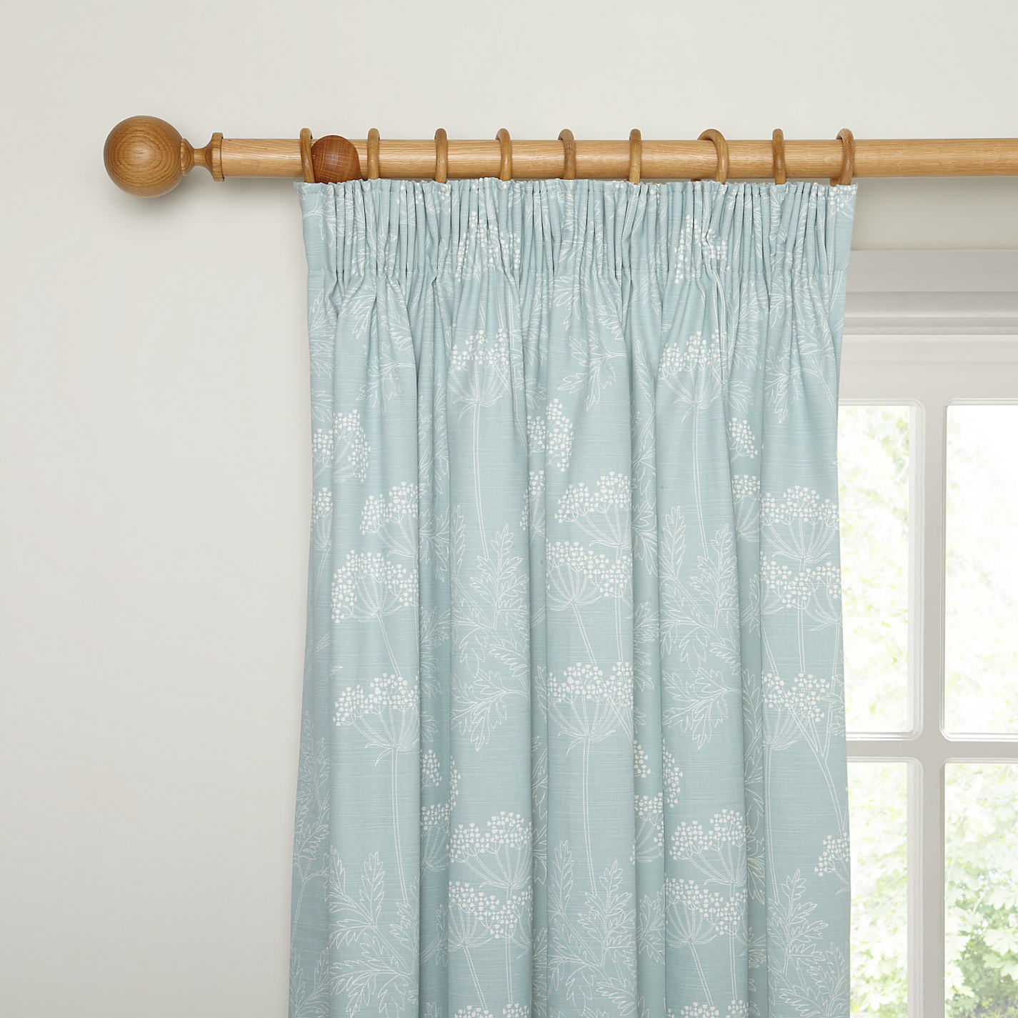 Buy John Lewis Cow Parsley Lined Pencil Pleat Curtains Online At Johnlewis