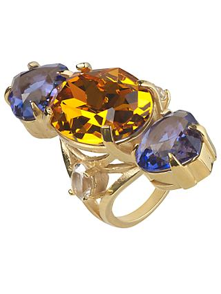 Cabinet Gold Plated Swarovski Crystal Erinus Ring