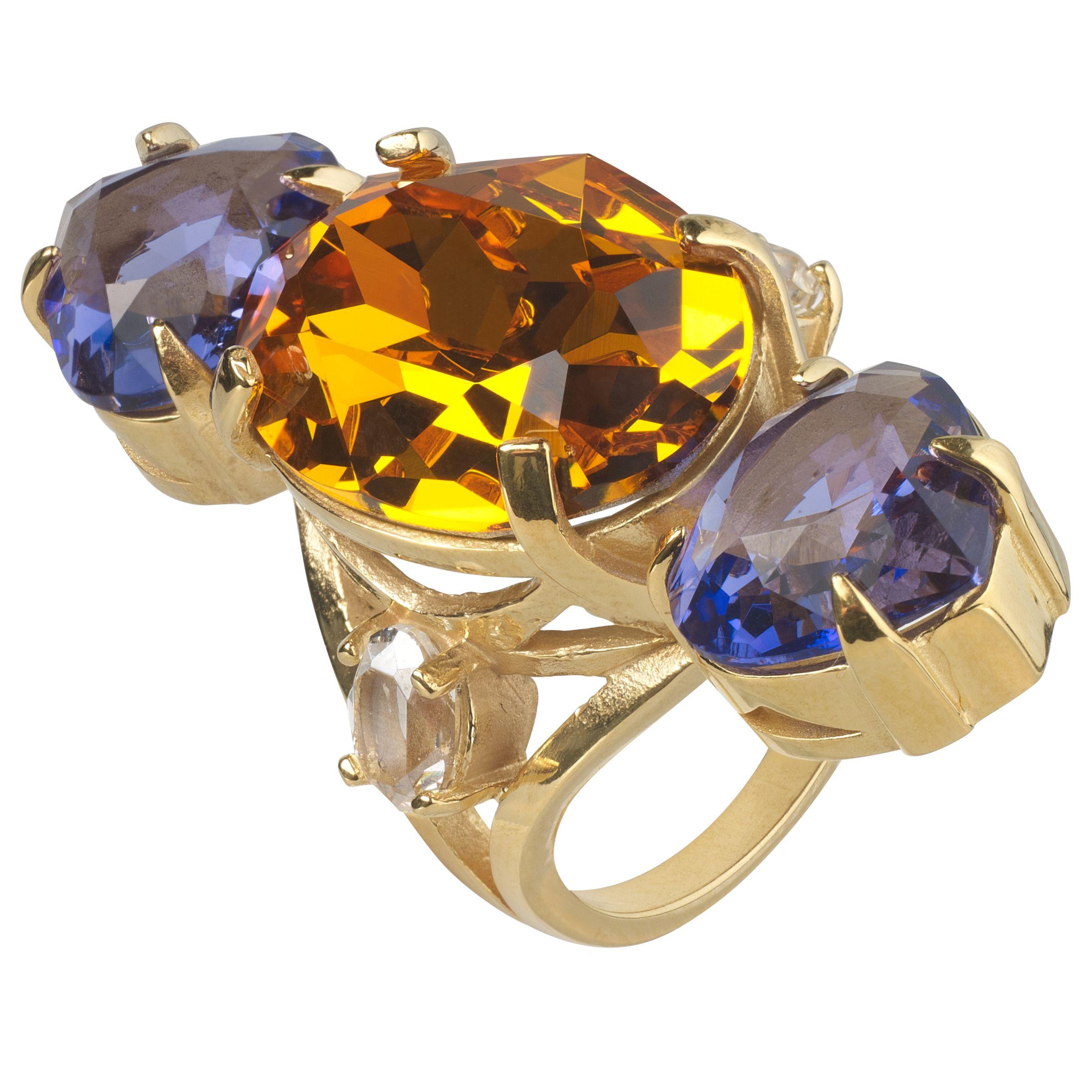 Cabinet Cabinet Gold Plated Swarovski Crystal Erinus Ring