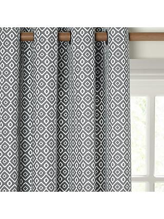John Lewis & Partners Nazca Pair Lined Eyelet Curtains