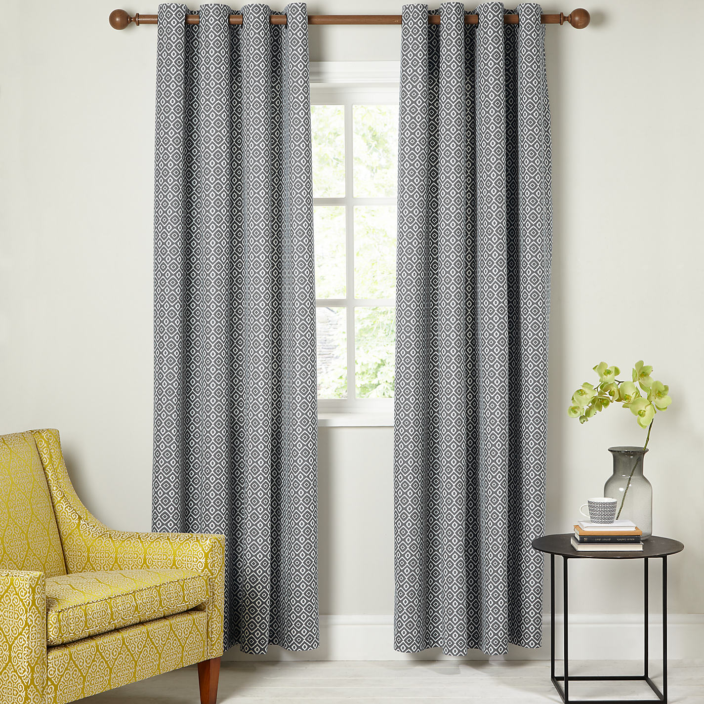 Buy John Lewis Nazca Lined Eyelet Curtains John Lewis - John lewis curtains grey