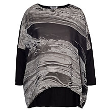 Buy Chesca Printed Chiffon Tunic, Black/White Online at johnlewis.com