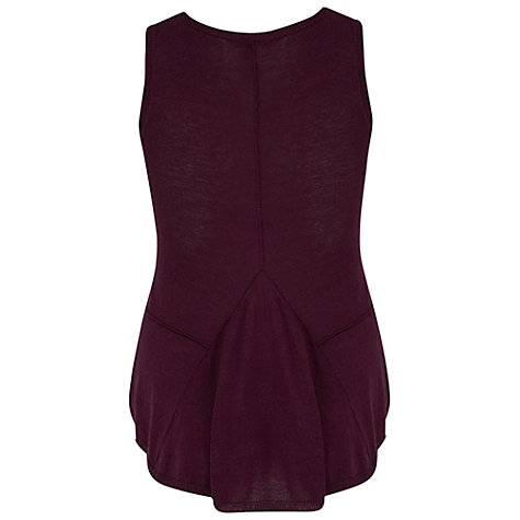 Buy Chesca Seamed Knitted Top With Godet, Plum Online at johnlewis.com