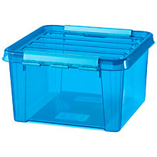 Buy Smartstore by Orthex Colour Plastic Storage Box, Blue Online at johnlewis.com