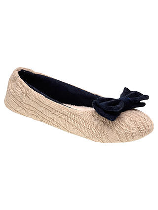 Buy Radley Chelsea Ballerina Slipper, Navy, M Online at johnlewis.com