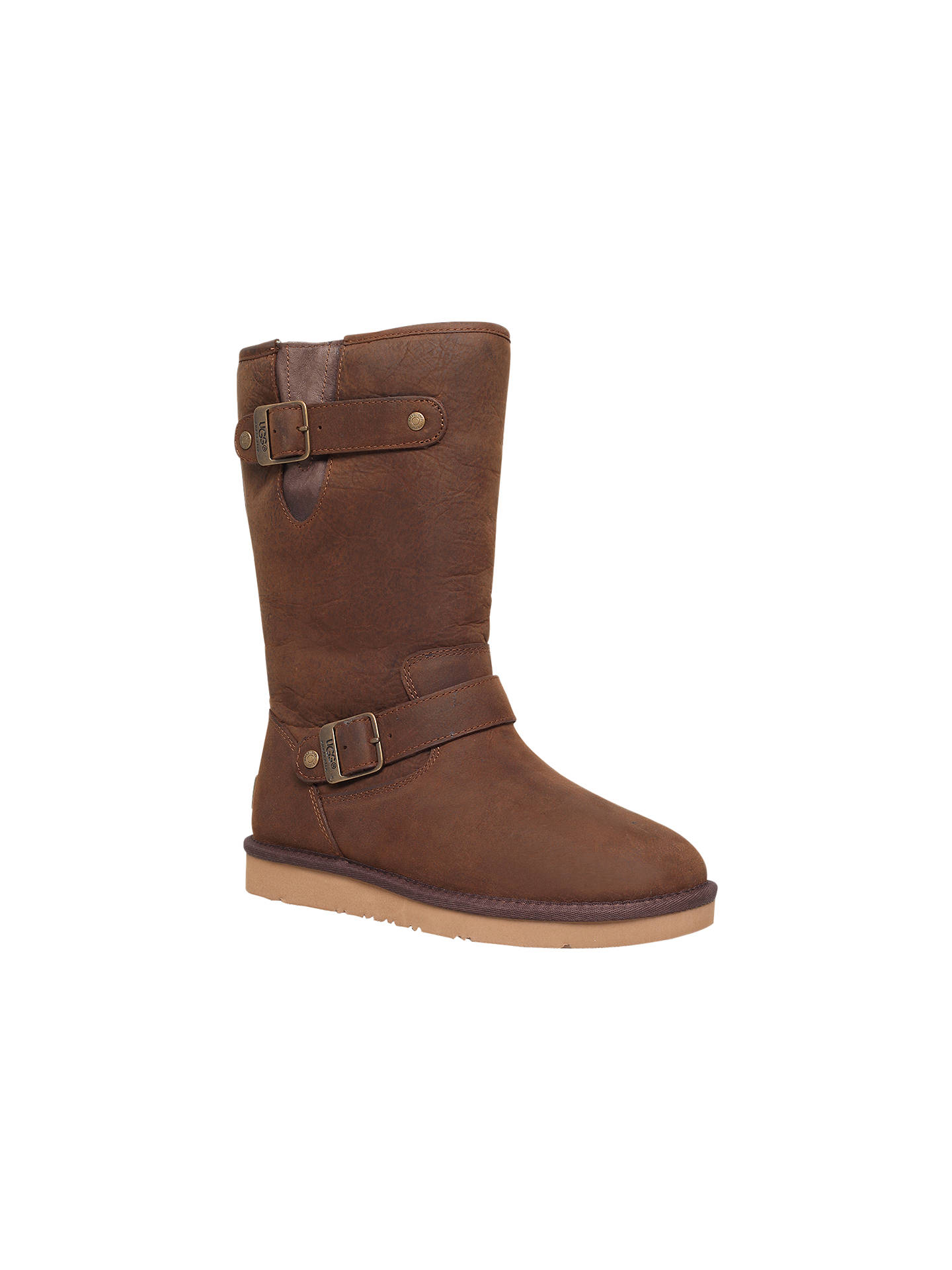 7c8acd3aa0c UGG Sutter Leather Calf Boots at John Lewis & Partners