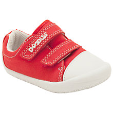 Buy Clarks Children's Little Doodles Canvas Shoe, Red/White Online at johnlewis.com