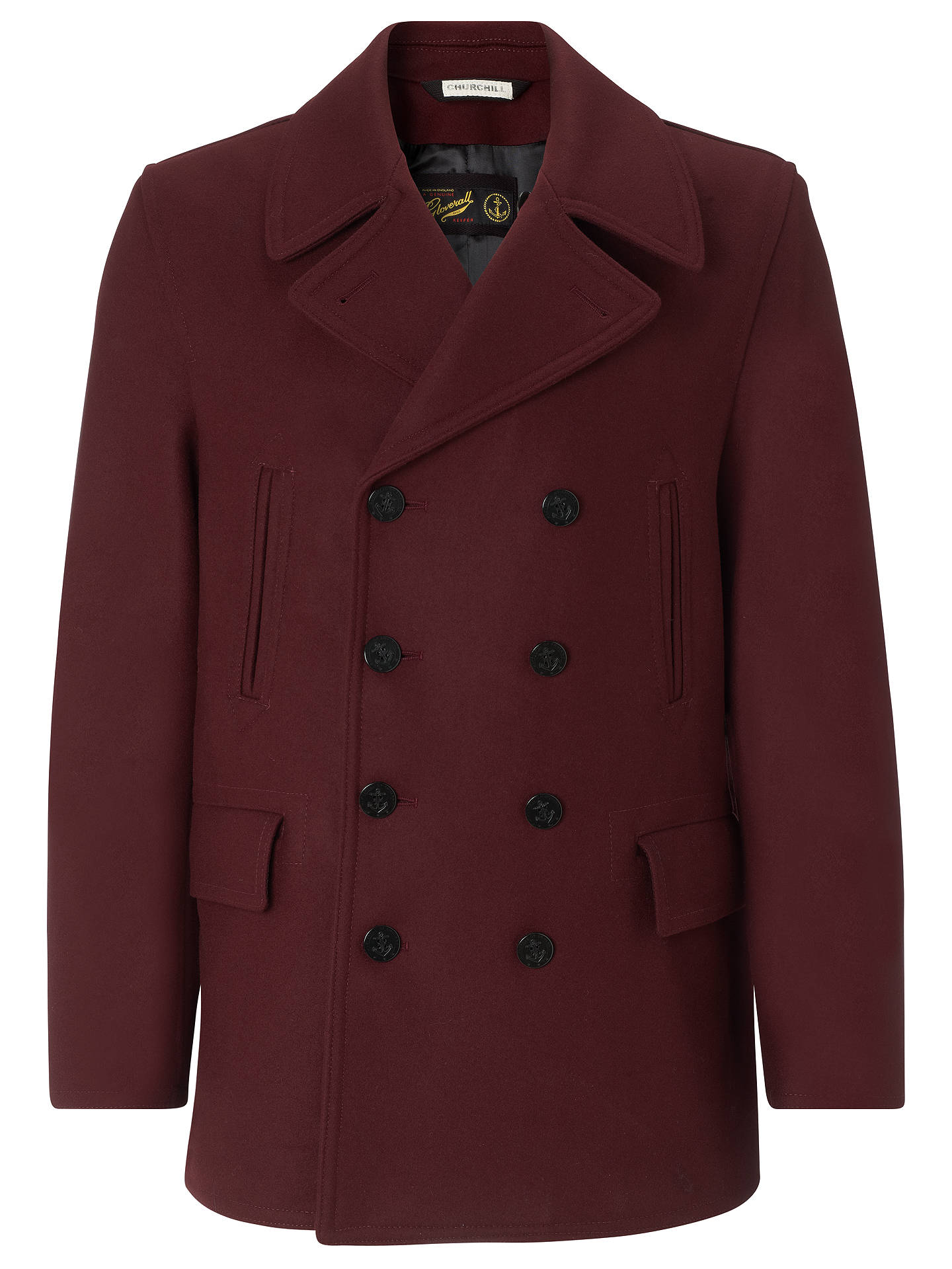 5a86d3a8d Gloverall Churchill Reefer Coat at John Lewis & Partners