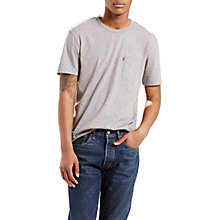 Buy Levi's One Pocket Crew Neck T-Shirt, Grey Heather Online at johnlewis.com