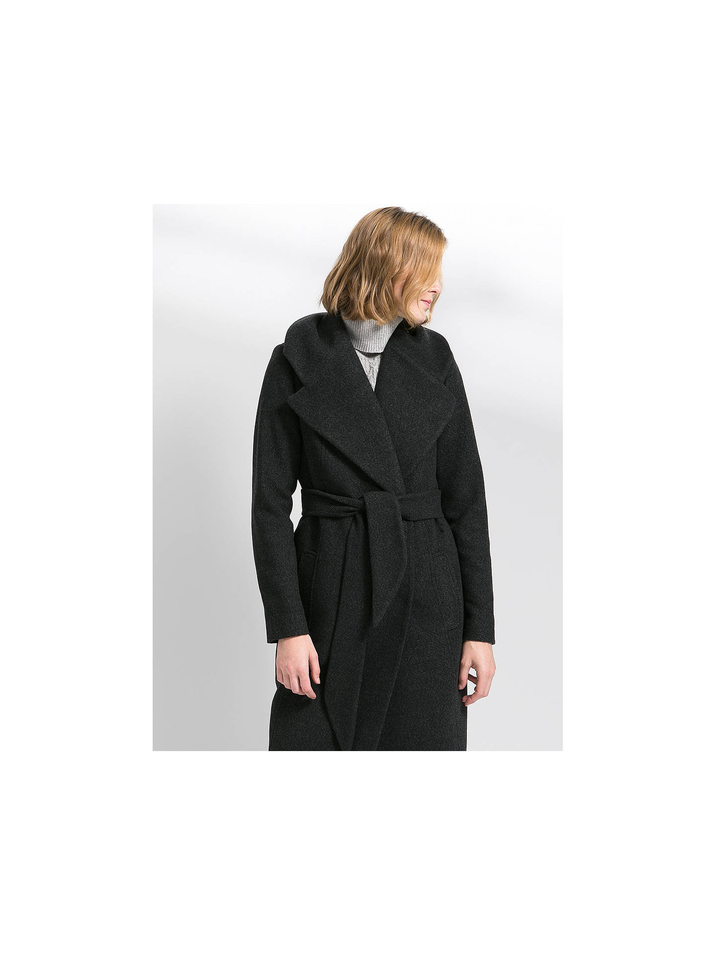 Belted Wool Coat from Mango on 21 Buttons
