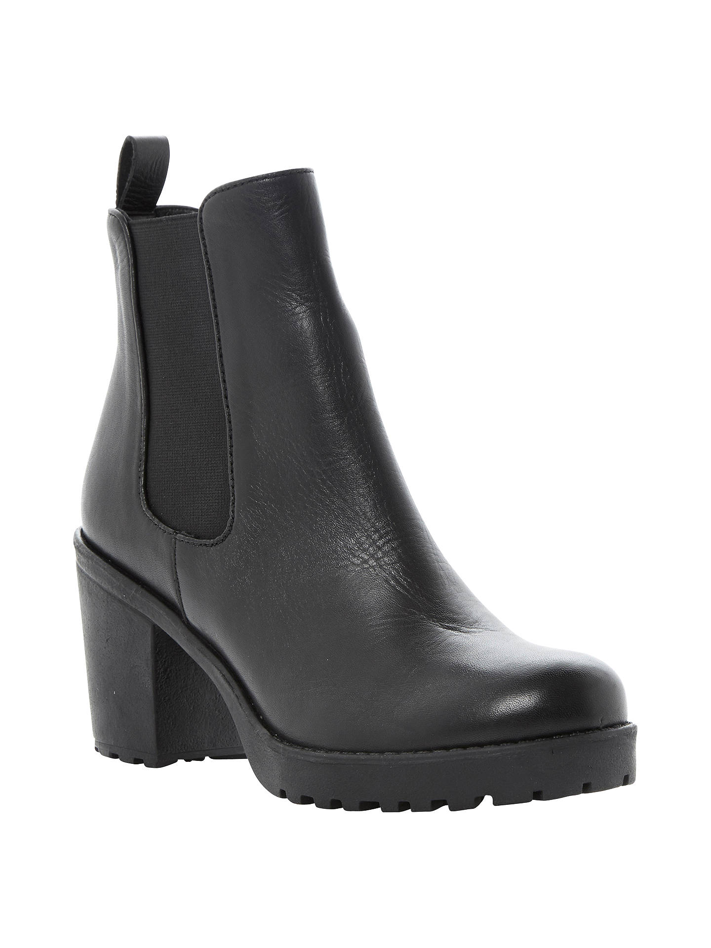 e3ba0c1864c Dune Pring Heeled Cleated Sole Leather Chelsea Ankle Boots at John ...