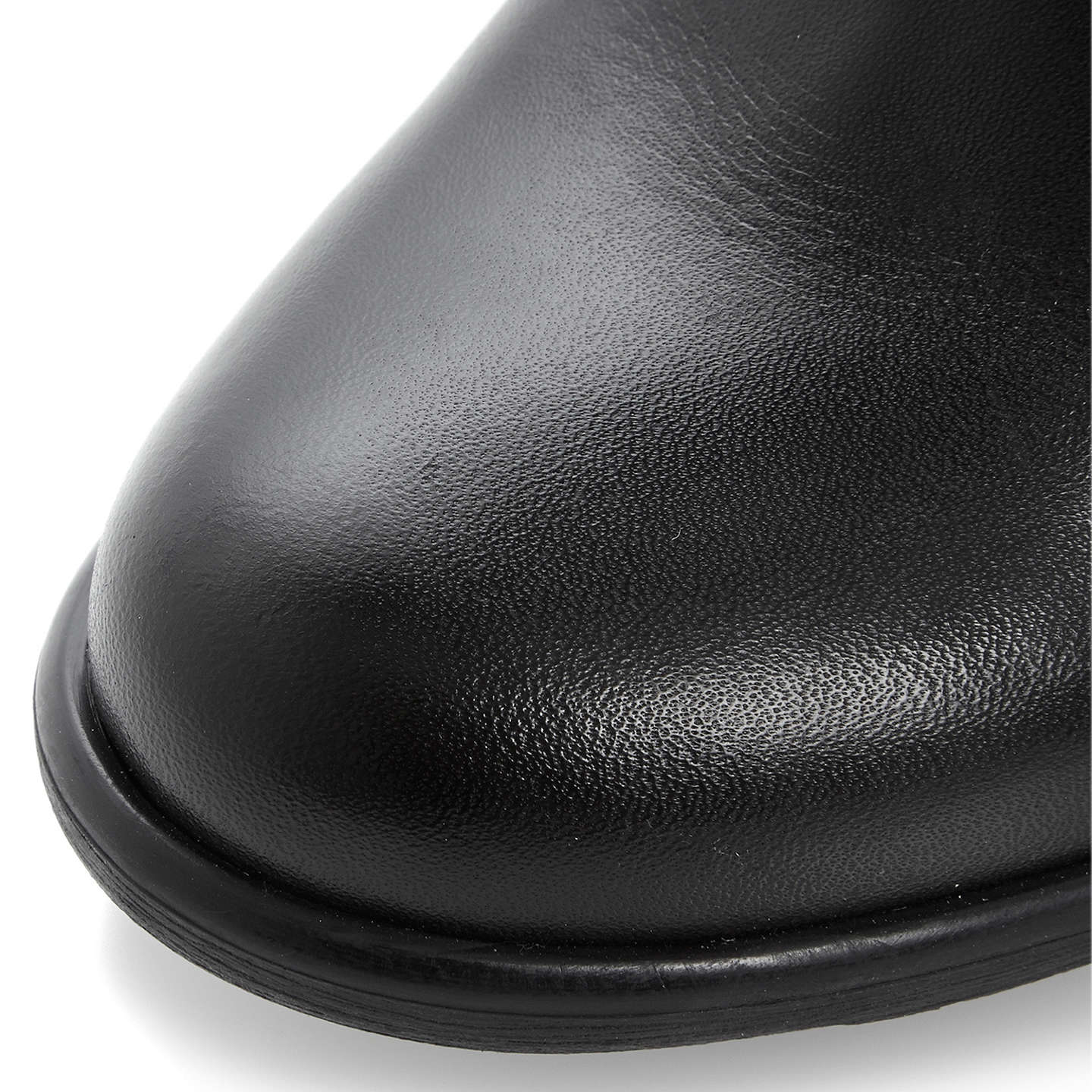 BuyDune Trudy Stretch Panel Block Heel Over the Knee Boots, Black Leather, 3 Online at johnlewis.com