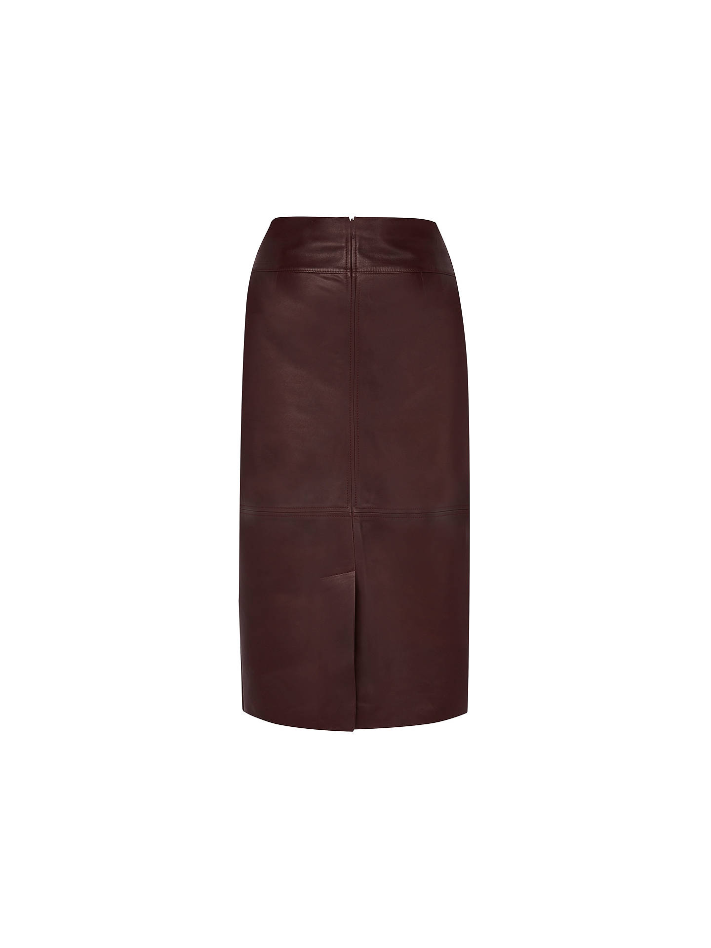 BuyViyella Leather Pencil Skirt, Burgundy, 8 Online at johnlewis.com