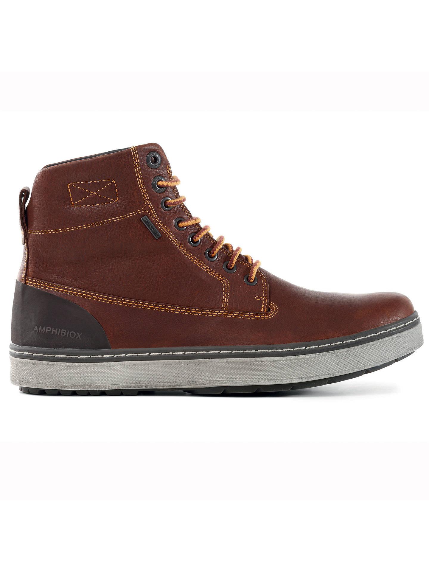 estético Mula Cuota de admisión  Geox Mattias Hi-Top ABX Waterproof Leather Boots, Light Brown at John Lewis  & Partners