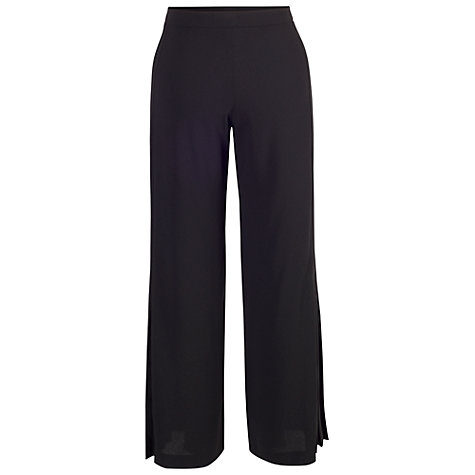 Buy Chesca Pleated Trim Trousers, Black Online at johnlewis.com