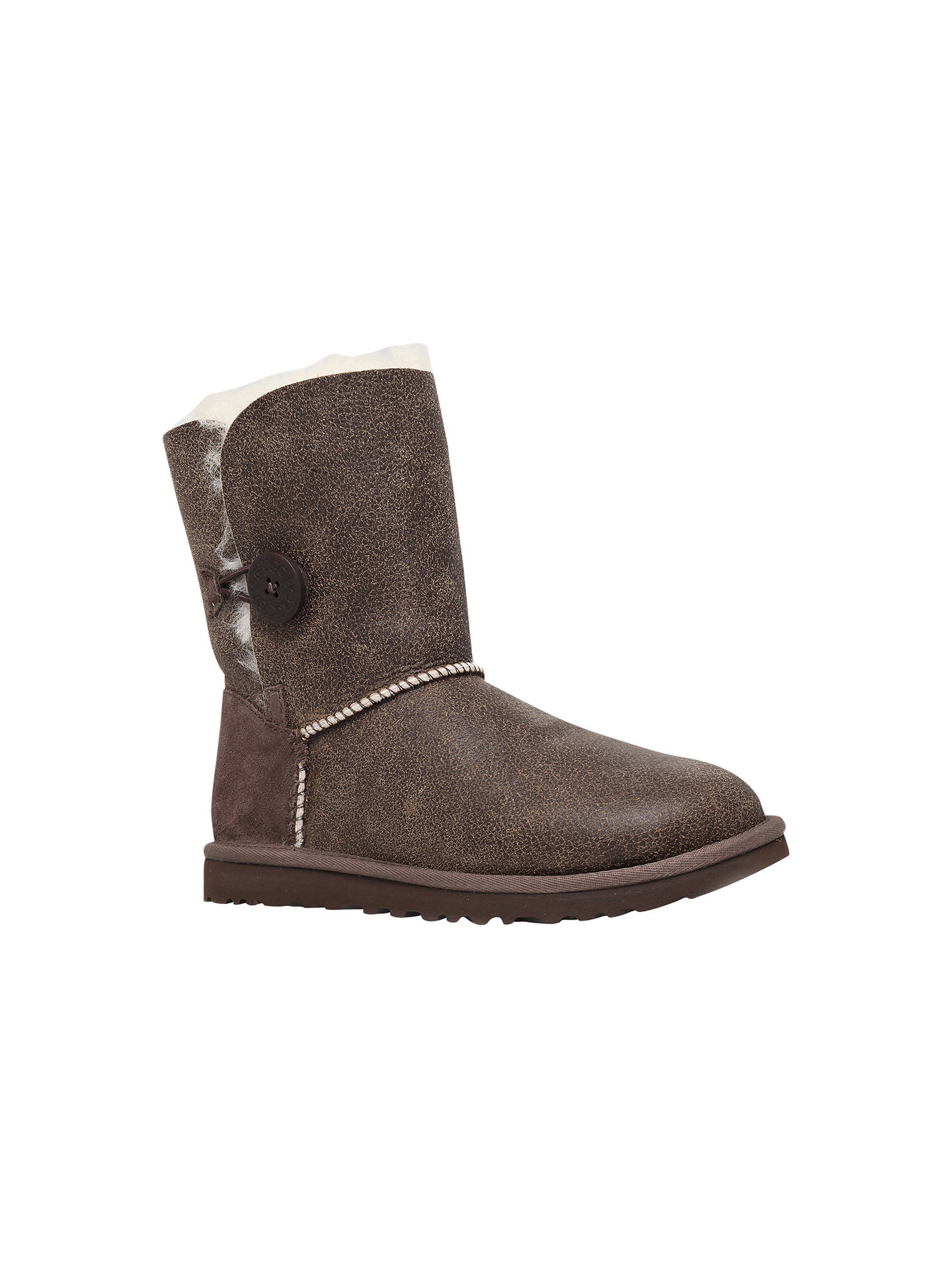 a463f6599ee UGG Bailey Button Bomber Boots, Chocolate at John Lewis & Partners