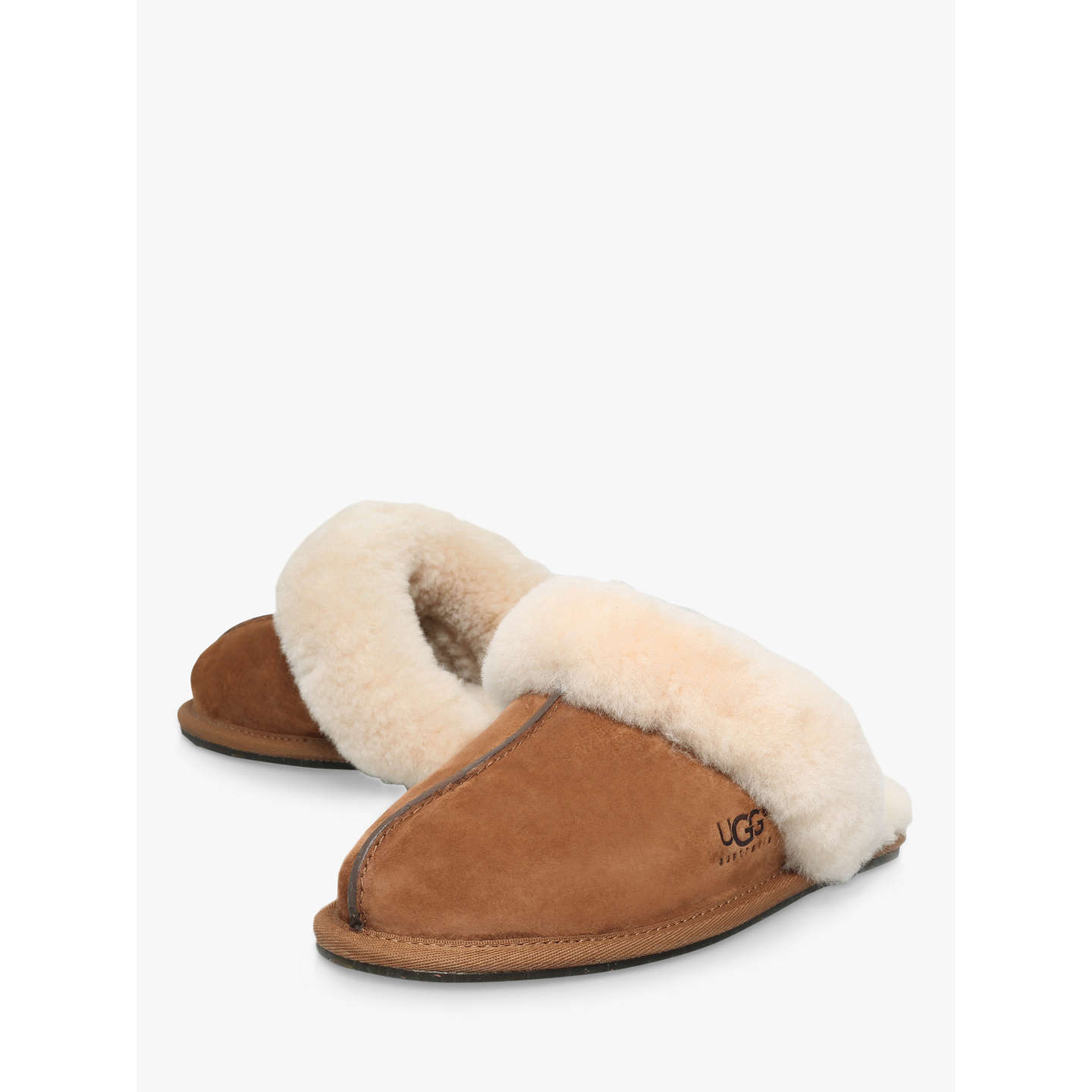 BuyUGG Scuffette II Sheepskin Slippers, Brown, 5 Online at johnlewis.com