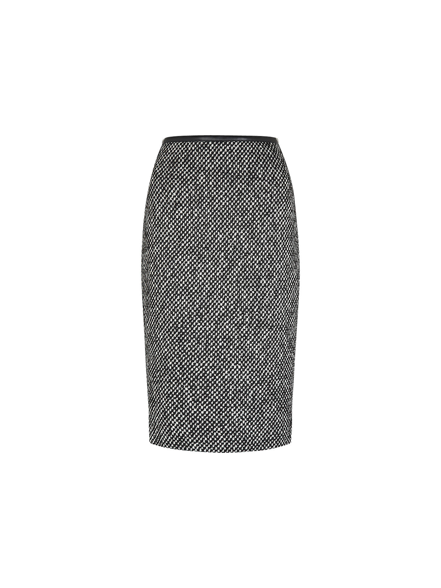 Buy Hobbs London Nave Skirt, Black Ivory, 8 Online at johnlewis.com