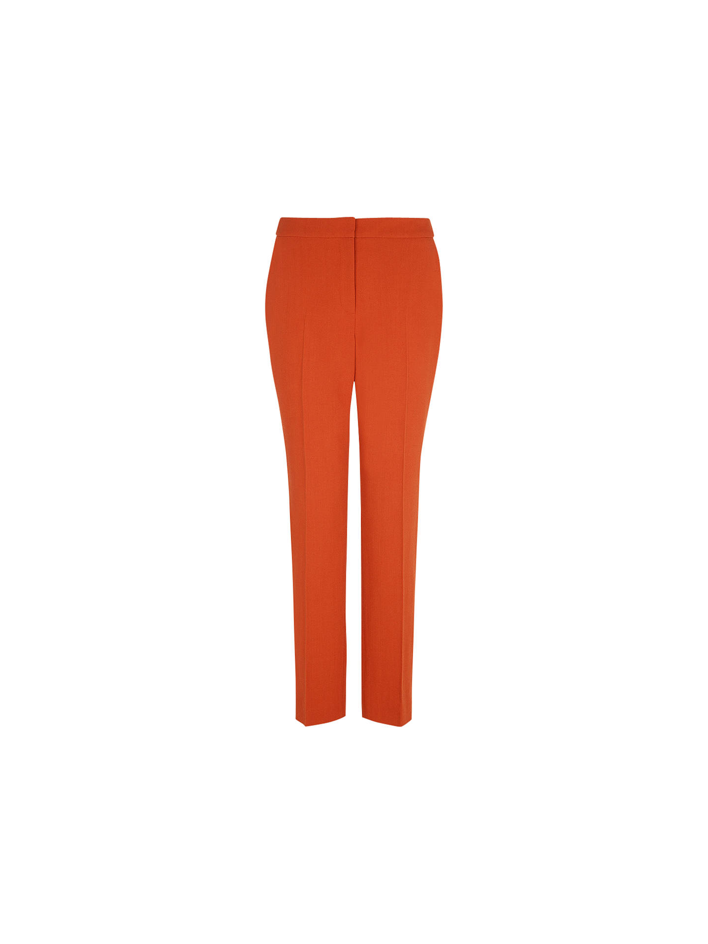 Buy Hobbs London Eaton Trousers, Pumpkin Orange, 8 Online at johnlewis.com