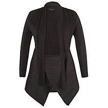 Buy Chesca Crush Pleat Shawl Shrug, Black Online at johnlewis.com
