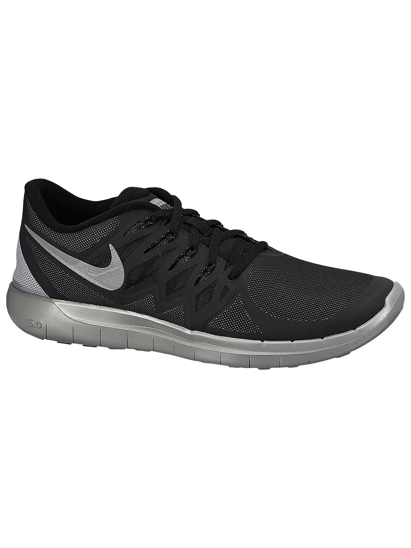 buy online bbd1c 3b27b Buy Nike Free 5.0 Flash Men s Running Shoes, Black Reflective Silver, 7  Online ...