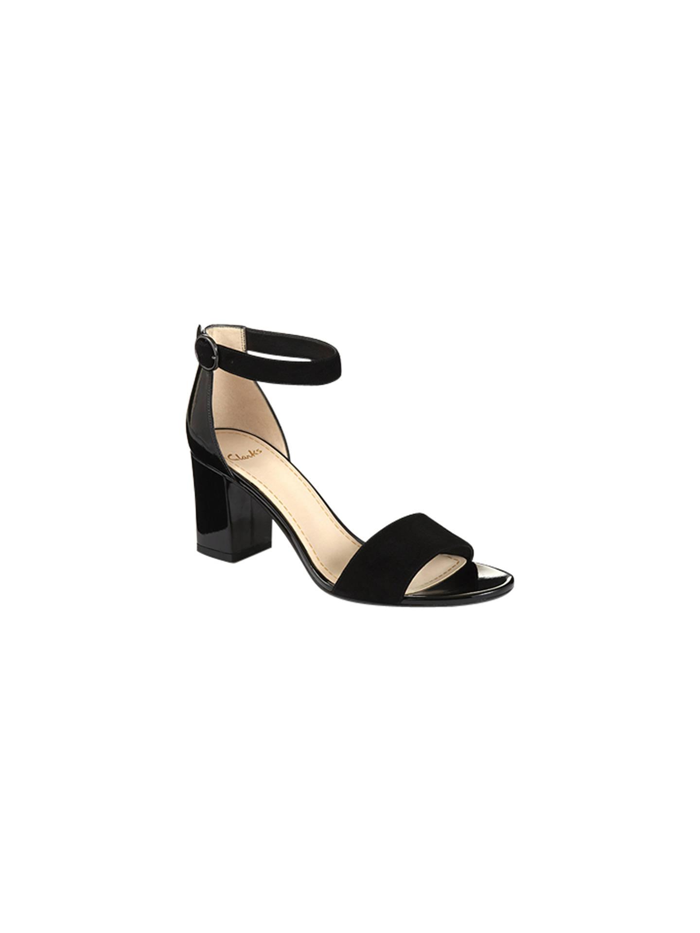 681a9490f Buy Clarks Susie Deva Leather Block Heel Sandals, Black, 4 Online at  johnlewis.
