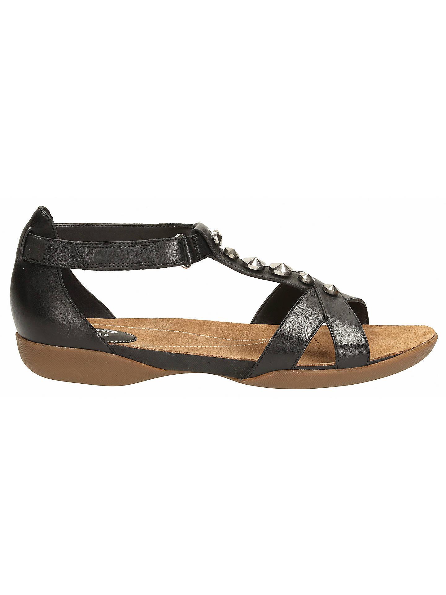 913039562 Clarks Raffi Scent Leather Sandals at John Lewis   Partners