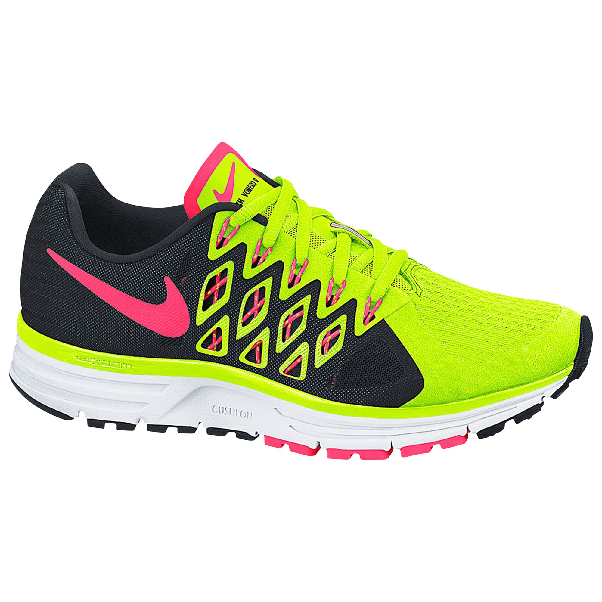 price reduced quality sale retailer Nike Zoom Vomero 9 Running Shoes, Volt Green/Hyper Punch at ...