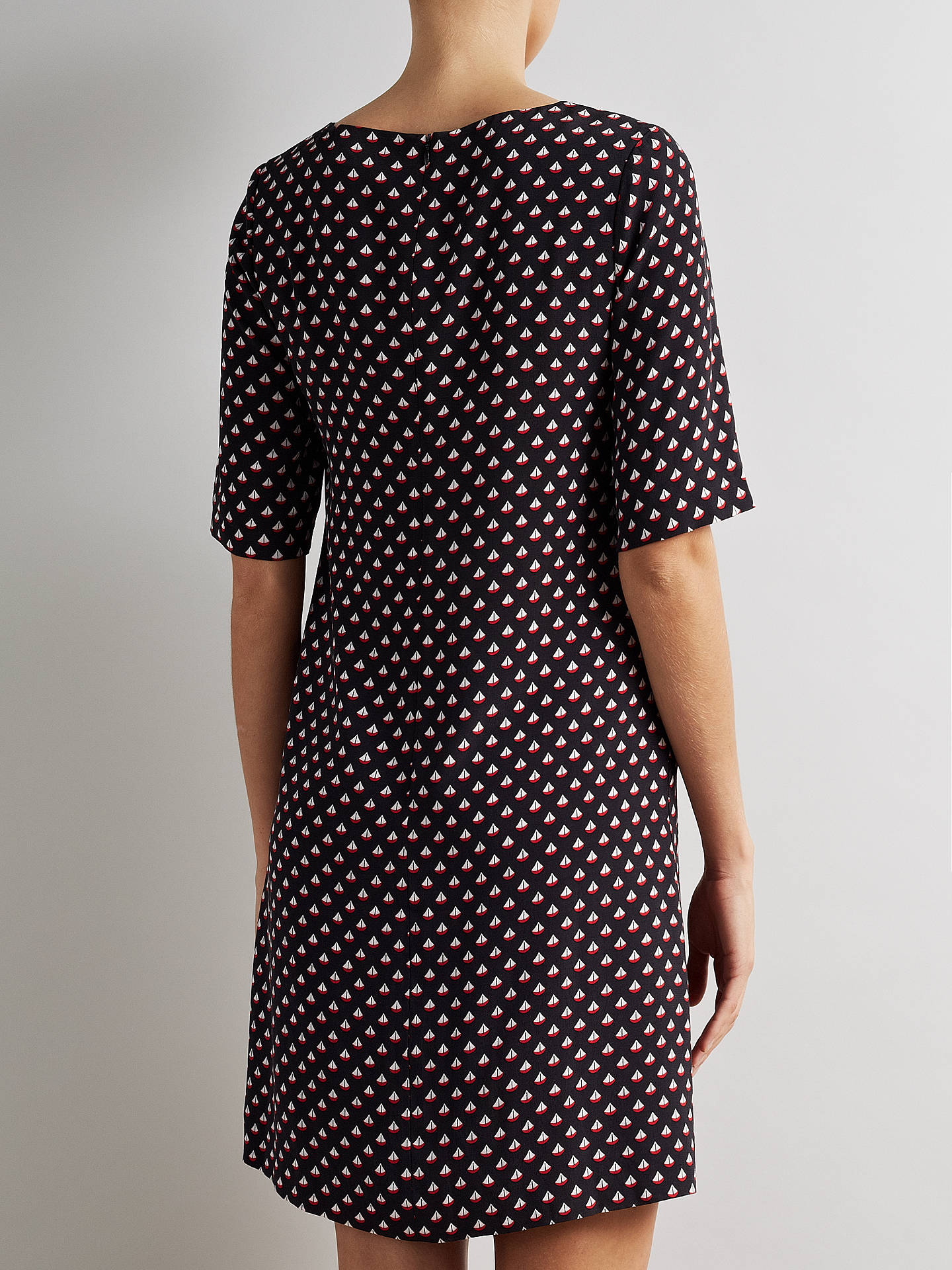 BuySomerset by Alice Temperley Boat Print Dress, Black, 8 Online at johnlewis.com
