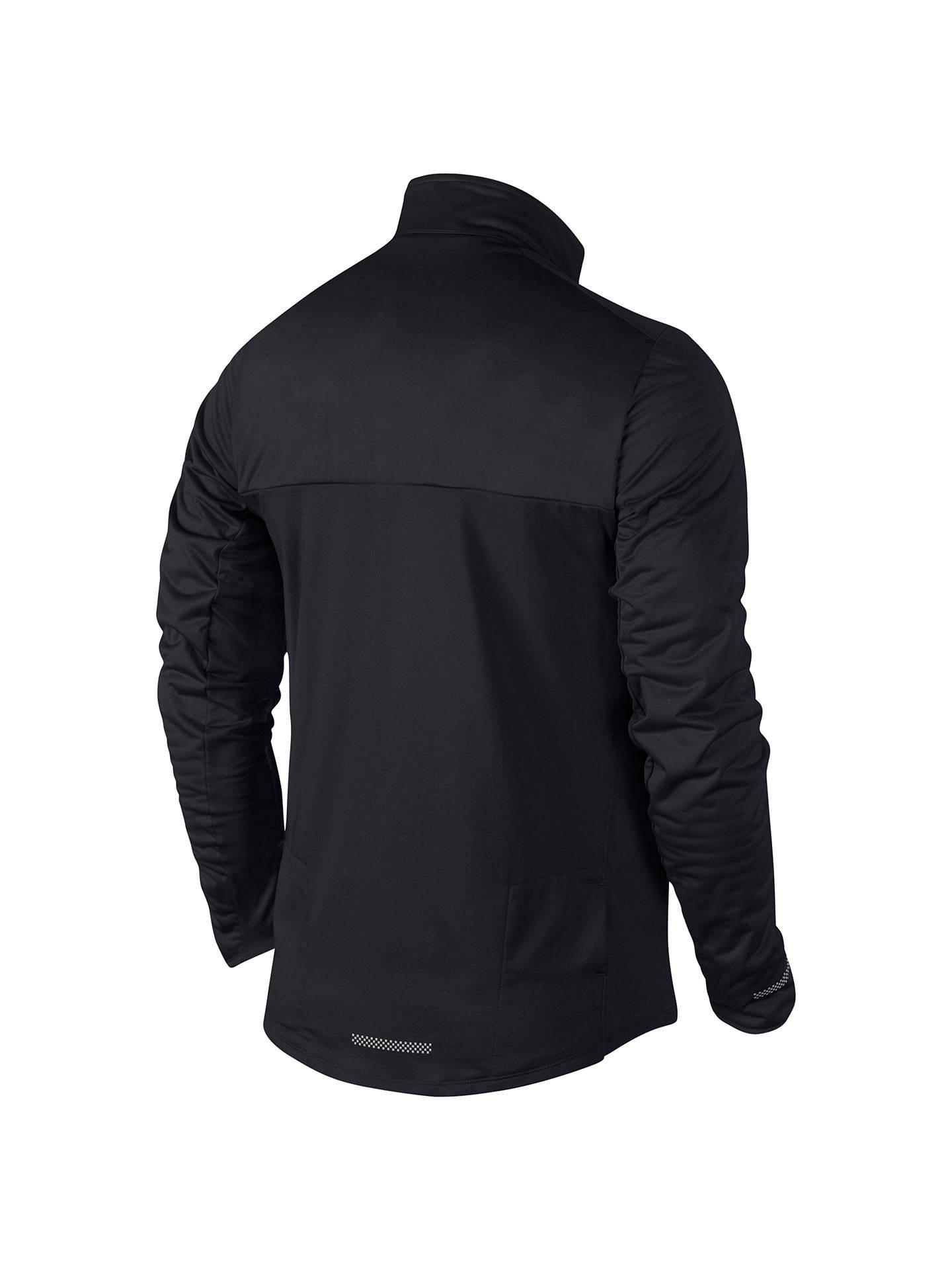 43c49c9a2 Nike Element Shield Full-Zip Running Jacket, Black at John Lewis ...