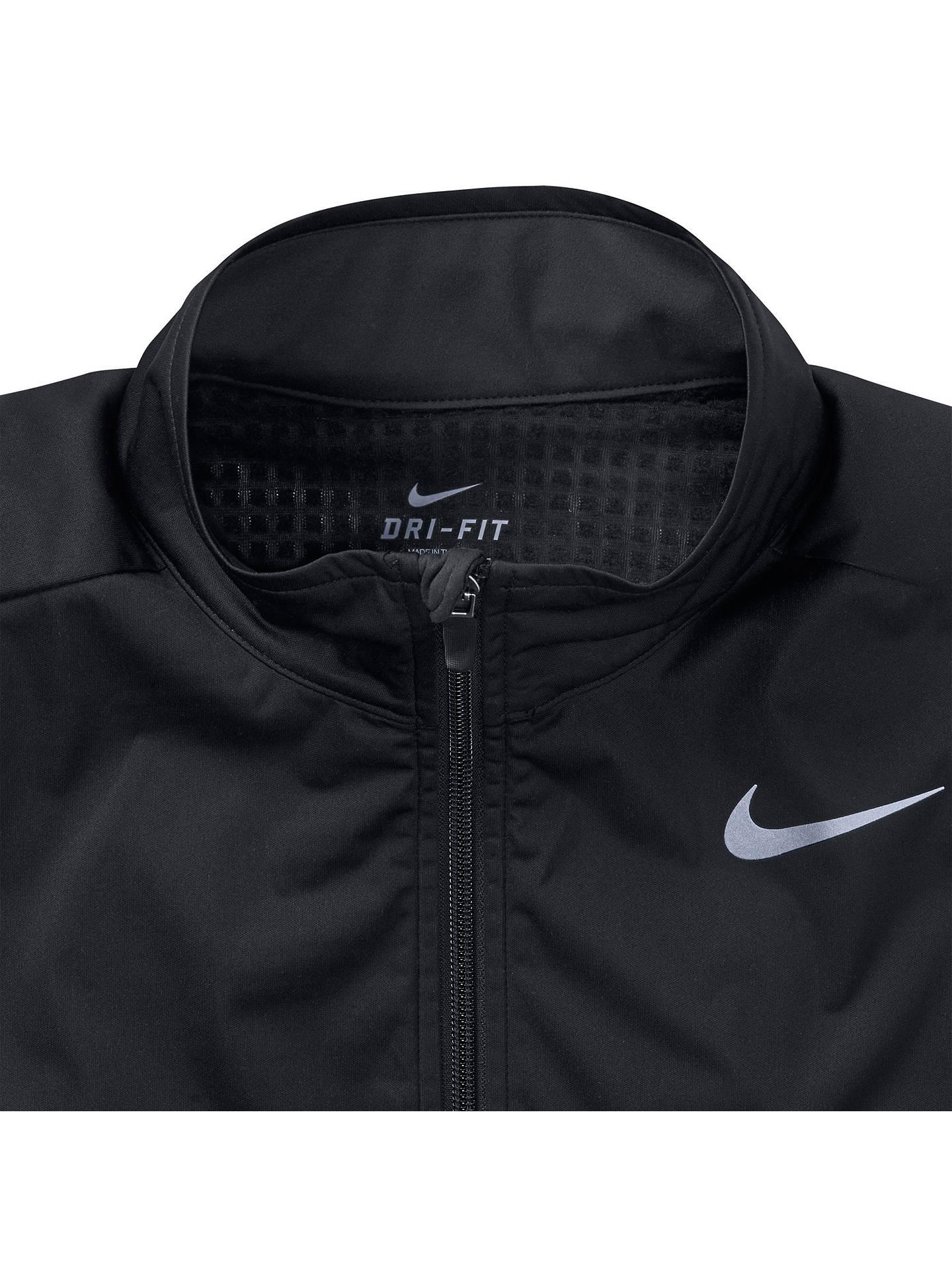 Semicírculo grabadora Ser  Nike Element Shield Full-Zip Running Jacket, Black at John Lewis & Partners