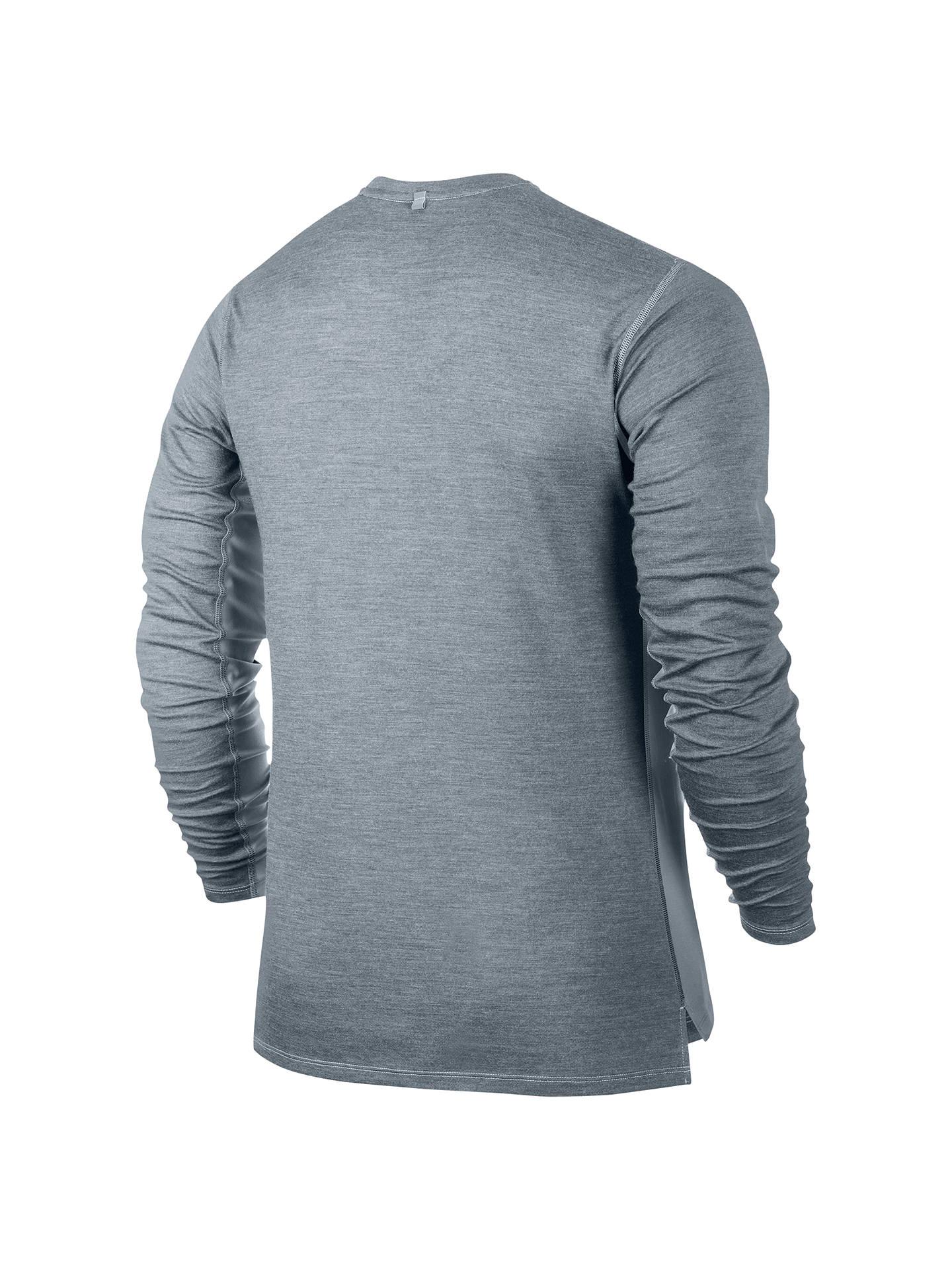 02b8f9202 Nike Dri-FIT Wool Long Sleeve Running T-Shirt at John Lewis & Partners