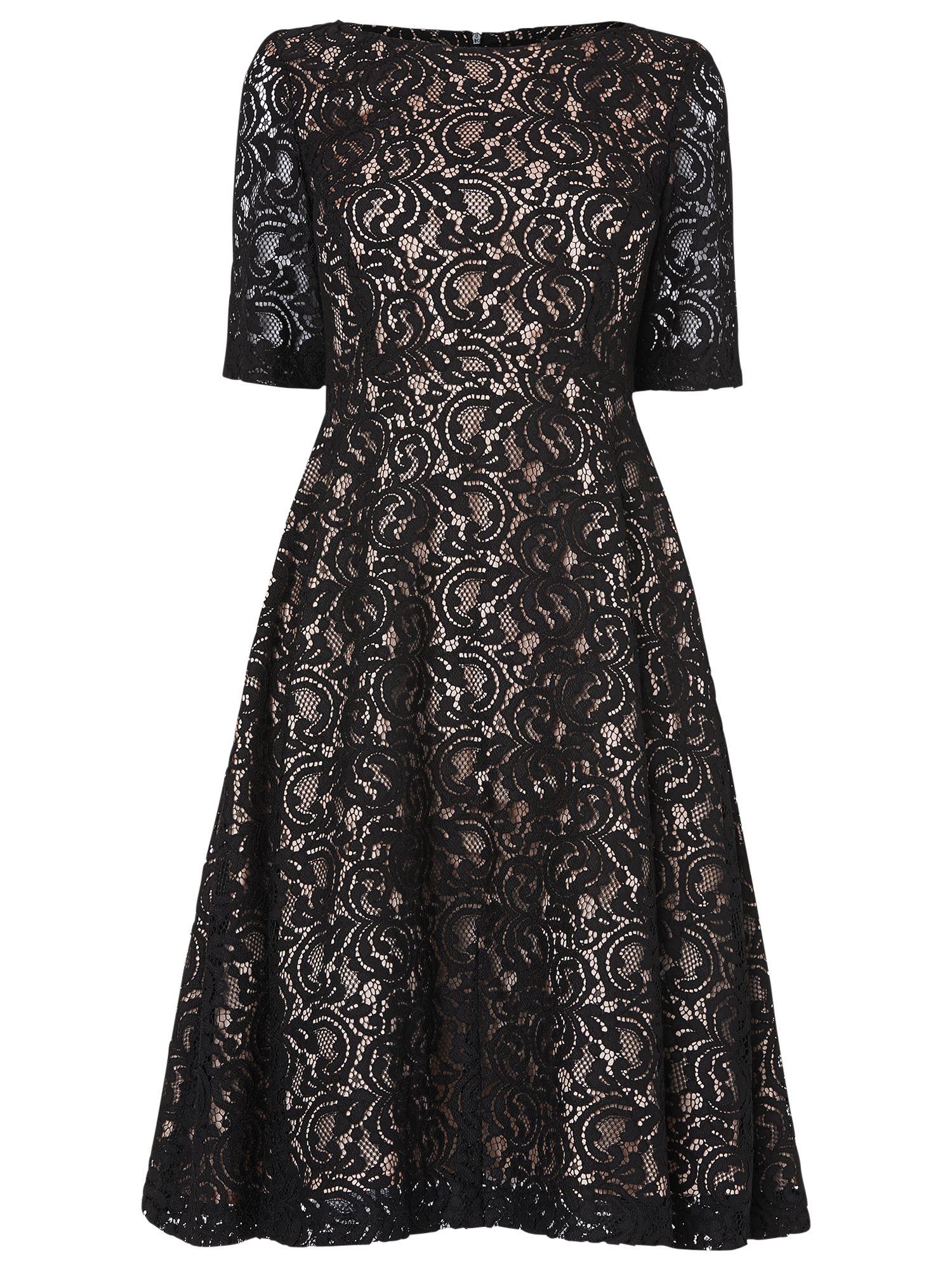 Phase Eight Louanna Lace Dress, Black