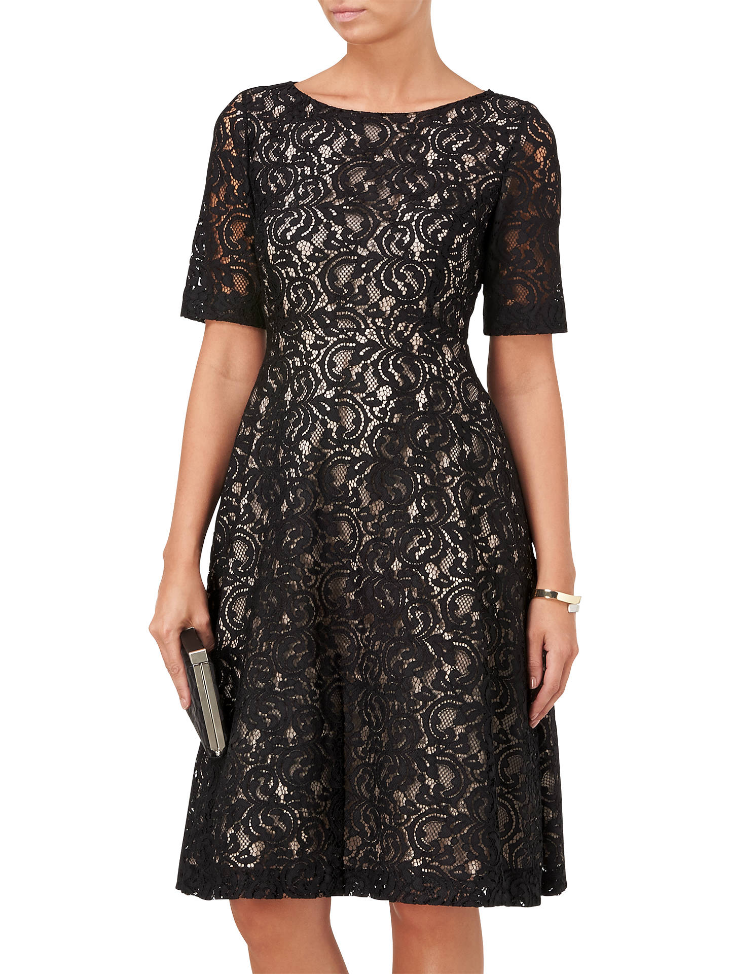 BuyPhase Eight Louanna Lace Dress, Black And Nude, 8 Online at johnlewis.com