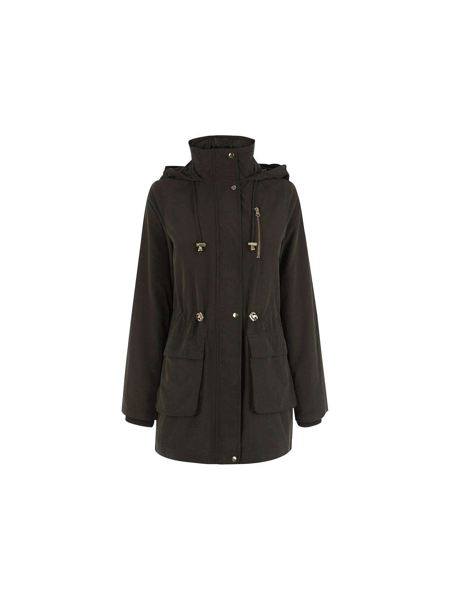 da15dd1fcc40 Buy Oasis Charlie Lightweight Parka Jacket, Khaki, S Online at  johnlewis.com ...